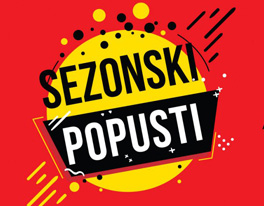 Sezonsko sniženje od 20 do 30 %